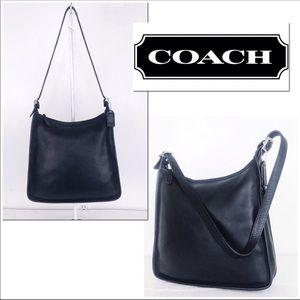 Coach Vintage Black Leather Andrea Shoulder Bag